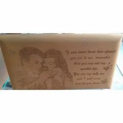 Wood Brown Wooden Engraved Photo Frame, Packaging Type: Box, Size: 7 X 4 Inch