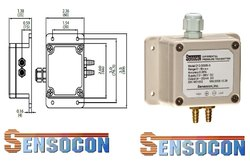 212-D015P-3 Sensocon USA Differential Pressure Transmitter