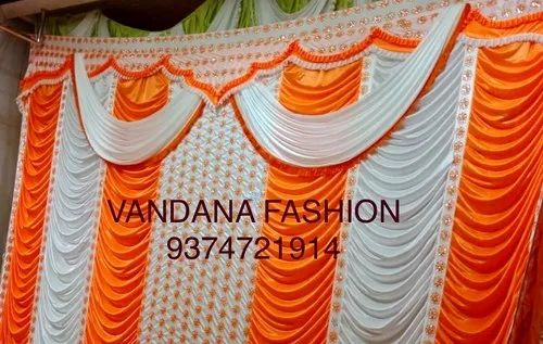 Orange And White Plain Polyester Sidewall Wedding Tent Curtains Parda Rs 1500 Piece Id 20176067230