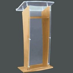 Acrylic Top Wooden Podium