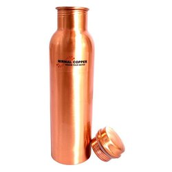1000ml Matt Finish Copper Water Bottle, Screw Cap