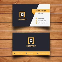 Rectangle Multicolor Visiting Cards, For Promotional, Size: 84 X 54 Mm