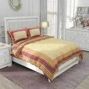 Jaipuri Cotton Tc120 Floral Printed Double Bed Sheet And Two Pillow Cover With Zip