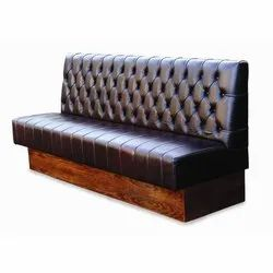 Wooden Restaurant Sofa