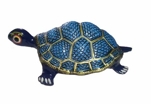 Blue Color Metal Tortoise For Home/office/garden, ID: 21388938588