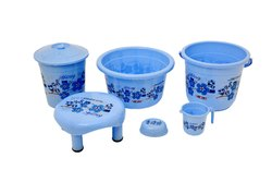 Plastic Bathroom Set 6 ( Pisces Set ) Flower Print