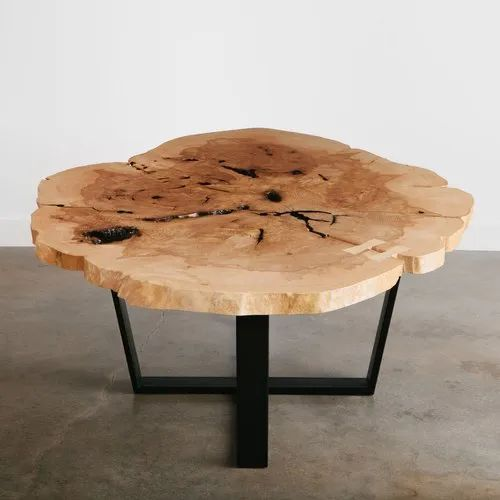 Round Live Edge Coffee Table 6