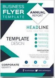 Multicolor soft copy Pamphlet Design, For Paper Insert