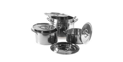 Stainless Steel Shallow Stock Pot