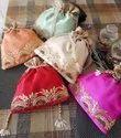 Embroidered Silk Potli Bags