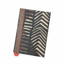 Handmade Coffee Brown Notebook With Beige Animal Print