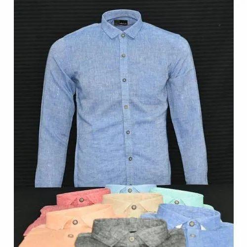 2641c2eb6 Pure Men Linen Shirt at Rs 550 /piece | Gents Linen Shirt ...