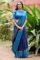 Indian Raw Silk Saree