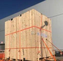 Waterproof Square Industrial Pinewood Box, Box Capacity: 201-400 Kg