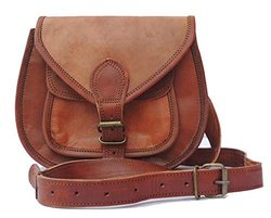 Round Shape Handmade Genuine Leather Handbag