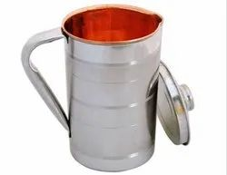 Copper and Steel Jug Water Storage -1.5 Lt (Silver -Touch)