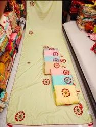 Party Wear Ladies Hand Work Saree, With blouse piece, 5.5 m (separate blouse piece)