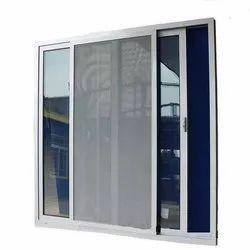 White 4-5 Feet Aluminium Mosquito Net Sliding Window