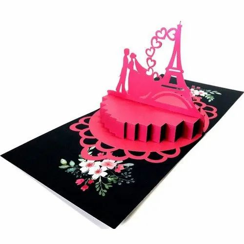 3d Popup Anniversary Greeting Card Greeting Card Pack For Love Wedding Anniversary Marriage Proposal Manufacturer From Mumbai