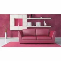 2 Seater Pink Wooden Sofa, 2-5 inch, for Home