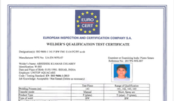 Welder Qualification Test Certificate Service