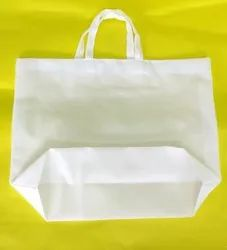 White Amala Carry Bags with Bottom Base, For Shopping, Capacity: 5kg