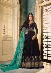 Semi Stitched Glossy Simar Amyra Anubha Gown Collection