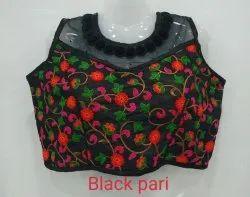 Black Pari Designer Net Blouse
