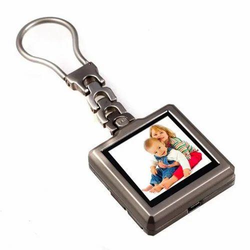 Multicolor MDF Digital Keychain