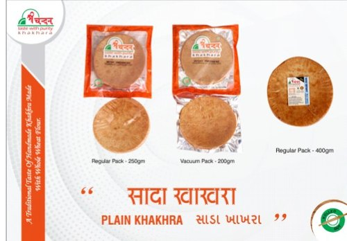 Plain Sada Khakhra, Pack Size (gram): 250g And Also Available In 400g