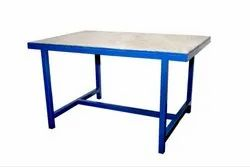 Powder Coated Mild Steel Work Table, Size: 48x27x34 Inches