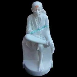 White Marble Statue Sai Baba