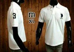 U.S Polo White Mens T Shirts