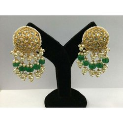 Designe topes in Gold Natural Uncut Diamond Polki stones with Jadau work