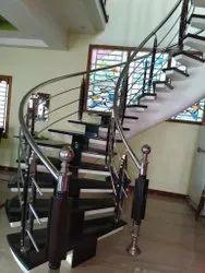 wooden baluster handrail
