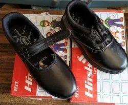 Hitshot Bl & Wt School Shoes Black & White