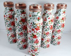 Rawsome Shack Printed Copper Bottles