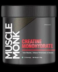 100%pure Powder Muscle Monk creatine monohydrate, Packaging Size: 100 Gram