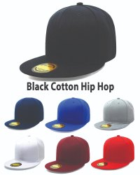Hip Hop Black Cotton Cap