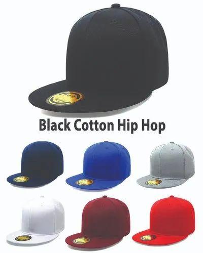 Hip Hop Black Cotton Cap