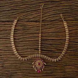 Wedding, Engagement Ruby, lct Antique Mehndi Plated Classic Damini 203212