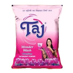 1 Kg Taj Wonder Wash Detergent Powder, Packaging Type: Packet