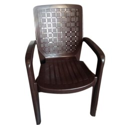 Brown Yash Industries Plastic Arm Rest Chair
