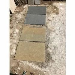 Yellow,Grey Yellow And Grey Natural Stone, For Flooring, Thickness: 20 mm