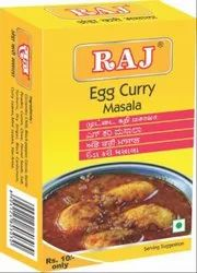 Raj Masale Egg Curry Masala, Packaging Size: 50 g, Packaging Type: Box