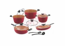 Cookware Set - 12 Pcs . Almond