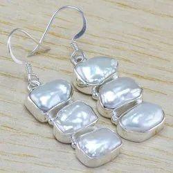 Pearl Gemstone 925 Sterling Wholesale Silver Jewellery Earring