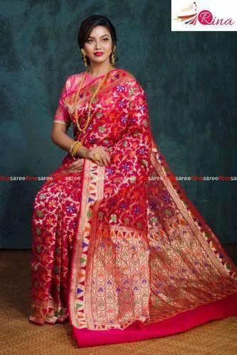 Silk Katan Jamdani Saree
