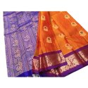 Printed Party Wear Kanchipuram Silk Saree, 6.3 M (with Blouse Piece)