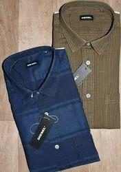 Diesel Collar Neck Denim Shirts For Men, Size: S-XXL